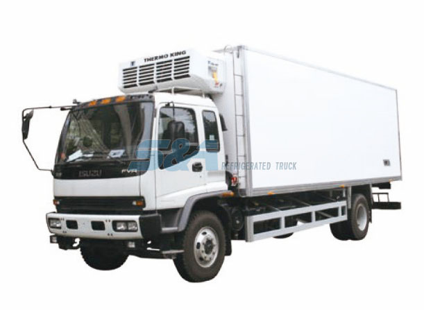 Isuzu F 40.6 cubic meters refrigerated truck