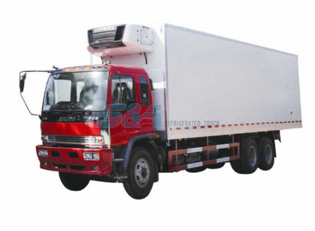 Isuzu F 49.1 cubic meters 280 HP refrigerated truck