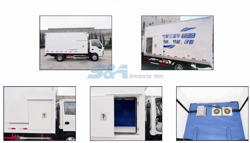 Three temperature sliding door refrigerated truck